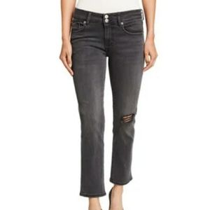 Hudson Ginny Distressed Cropped Jeans